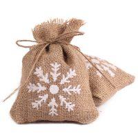 Burlap bags wedding favor candy pouch 2