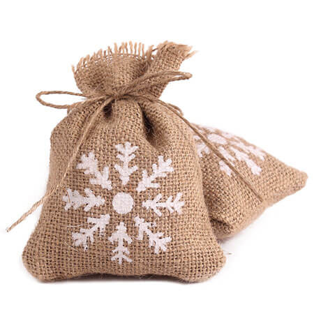 Burlap bags wedding favor candy pouch 2