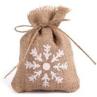 Burlap bags wedding favor candy pouch 3