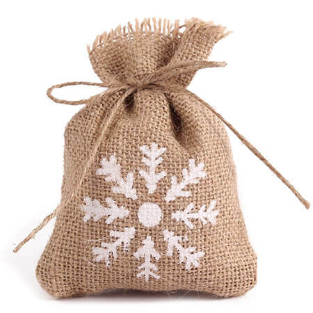 Burlap bags wedding favor candy pouch 3