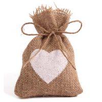 Burlap bags wedding favor candy pouch 4