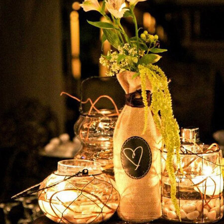 Burlap wine bottle packaging bag 3