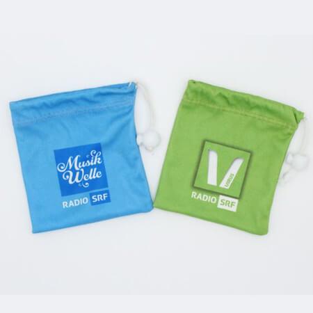 Custom printed velvet drawstring bag 1