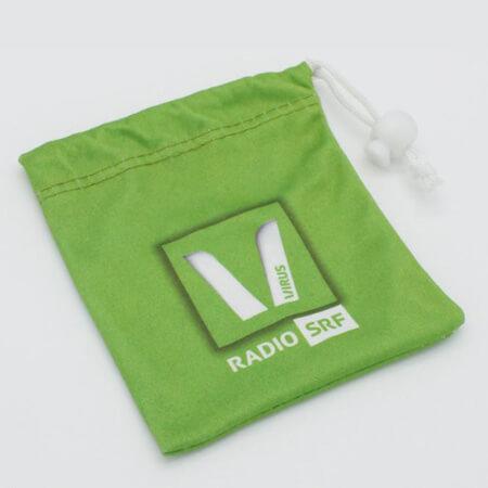 Custom printed velvet drawstring bag 2