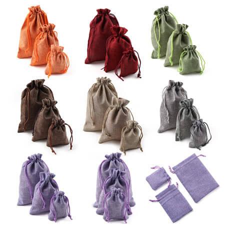 Eco-friendly hessian wedding favor gift bag 1