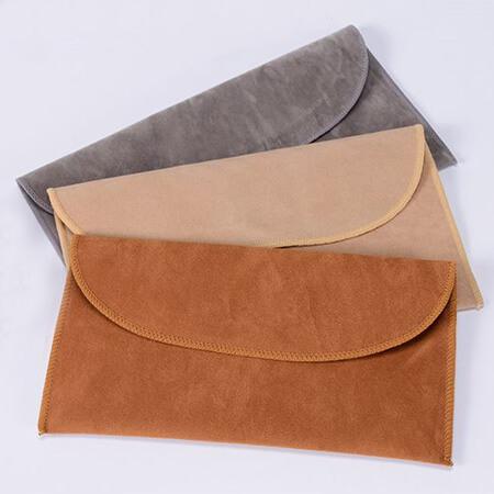 Faux suede velvet pouch flap envelope 1