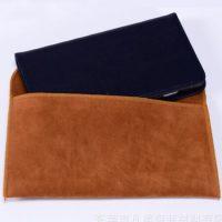 Faux suede velvet pouch flap envelope 3