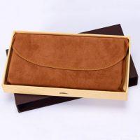 Faux suede velvet pouch flap envelope 4