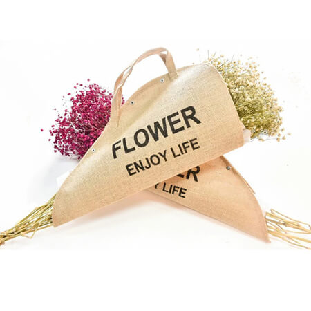 Flowers bag natural burlap bags 1