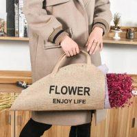 Flowers bag natural burlap bags 4