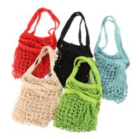 Natural cotton shopping net tote bag 1