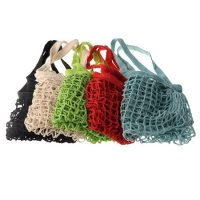 Natural cotton shopping net tote bag 2
