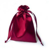 Pink drawstring satin pouch 4