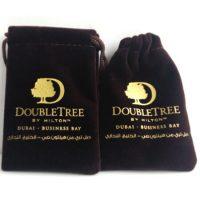Printed velvet pouch for Dubai client 1