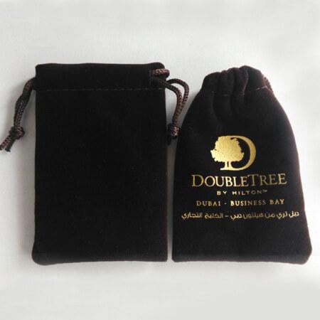 Printed velvet pouch for Dubai client 2