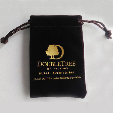 Printed velvet pouch for Dubai client 4