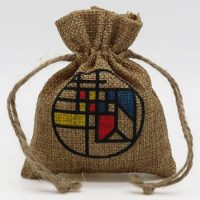 Promotional Small burlap drawstring pouch 1