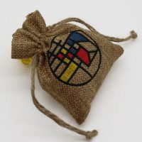 Promotional Small burlap drawstring pouch 2