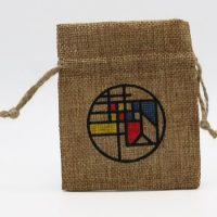 Promotional Small burlap drawstring pouch 3