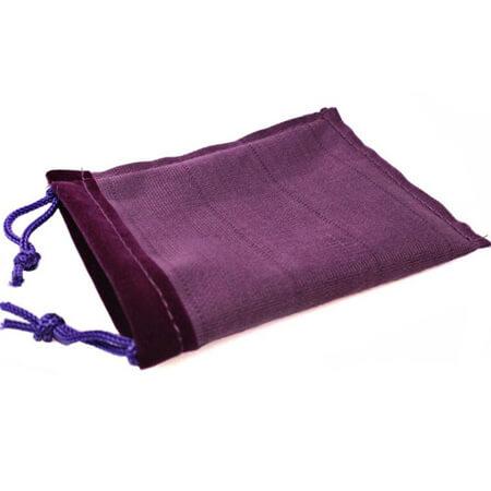 Purple drawstring velvet pouch 4
