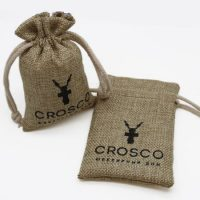 Recyclable burlap pouch with logo 1