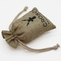 Recyclable burlap pouch with logo 2