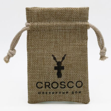 Recyclable burlap pouch with logo 3