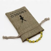 Recyclable burlap pouch with logo 4