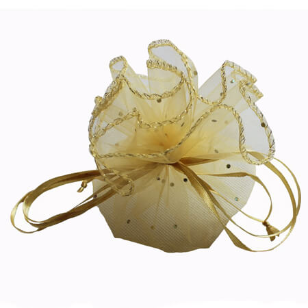 Round organza pouch for jewelry packaging 2