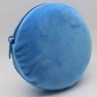 Round velvet pouch with zipper 2