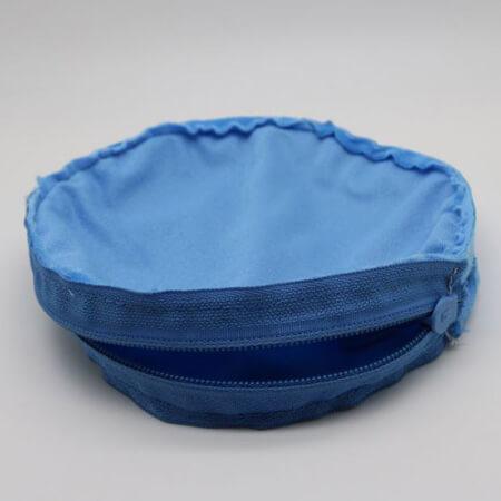 Round velvet pouch with zipper 4