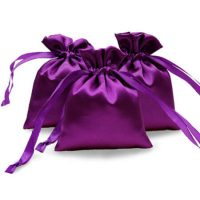 Satin jewelry pouch purple 1