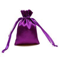 Satin jewelry pouch purple 2