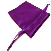 Satin jewelry pouch purple 3