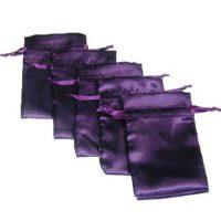 Satin jewelry pouch purple 4