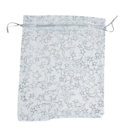 Star moon white organza jewelry bags 2
