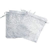 Star moon white organza jewelry bags 3
