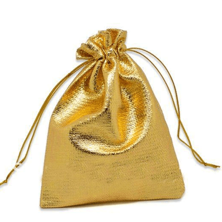 Tone satin gift bags with drawstring 1