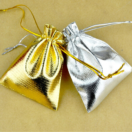 Tone satin gift bags with drawstring 2