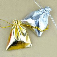 Tone satin gift bags with drawstring 4