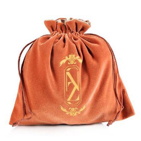 Velvet jewelry gift drawstring bag 1