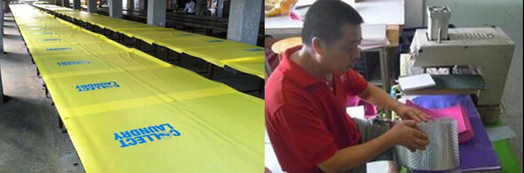 Silk printing and Heat transfer printing