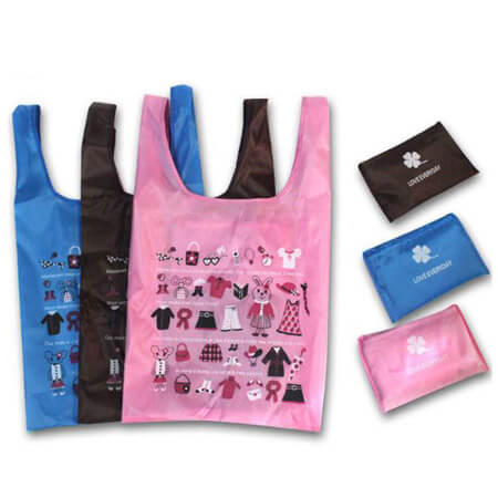 210D polyester promotional shopping bag 1