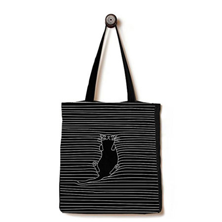 Black cotton bag with gusset 4