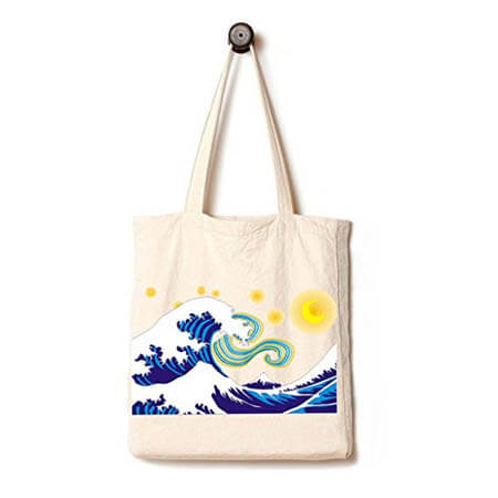 Canvas tote bag with gusset customize 1