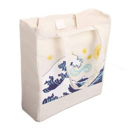 Canvas tote bag with gusset customize 2