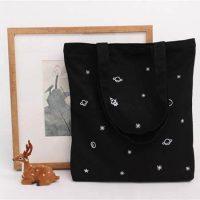 Cotton spacecraft embroid bag 4