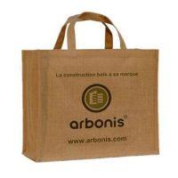 Custom jute bags printed logo 1