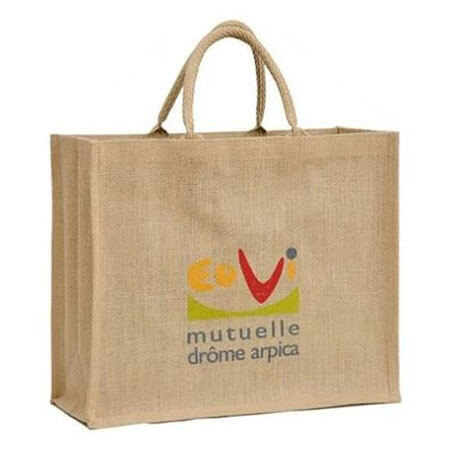 Custom jute bags printed logo 4