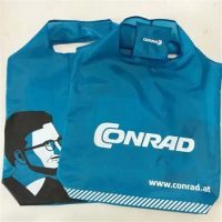 Customize blue foldable shopping bag 2